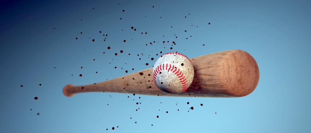 shaved baseball bat